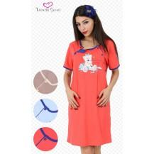 Dámská noční košile mateřská Malý Méďa - béžová XL Vienetta Secret