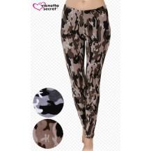 Dámské elastické kalhoty Army - tmavě hnědá L Vienetta Secret