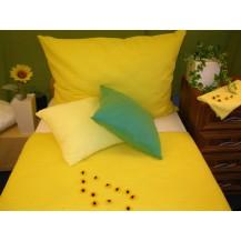 Povlečení krep francie  2x70x90 + 200x240 (sytě.žlutá)