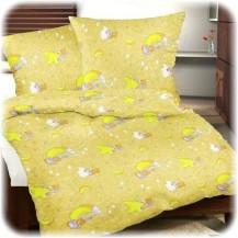 Dětské povlečení krep měsíc žlutý 45x64 90x130 (R0612) Veratex