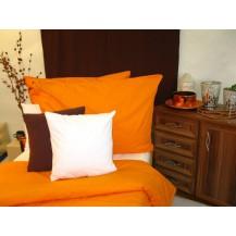 Jersey povlečení 70x90 140x200 (č.23-oranžová) Veratex
