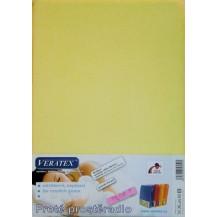 Froté prostěradlo 80x200 cm (č. 5-sv.žlutá) Veratex