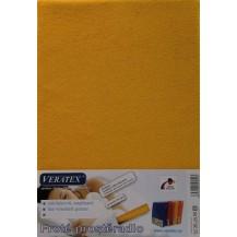 Froté prostěradlo 80x200 cm (č. 7-sytě žlutá) Veratex