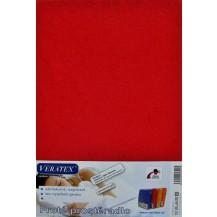 Froté prostěradlo  90x220x16 cm (č.18-červená)
