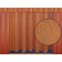 Záclona kusová - Oblázky 180x300 cm (oranžová)