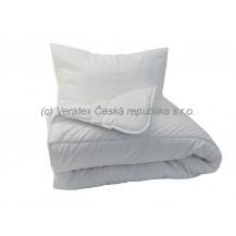 Souprava deka + polštář mikro 900g (140x200 + 70x90cm) bílá Veratex Veratex