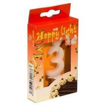 Svíčka dortová -3- krabička 70mm (7908)