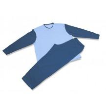 Pánské pyžamo 2421 tm.modrá-sv.modrá (XL)