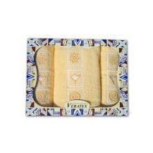 Dárkový froté set 2 ručníky a osuška ( 4-sv.žlutá)
