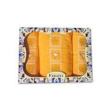 Dárkový froté set 2 ručníky a osuška ( 5-sytě_žlutá)