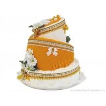 Svatební Textilní dorty 3-A třípatrový Veratex