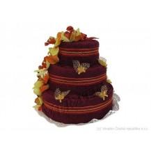 Svatební Textilní dorty 3-C třípatrový Veratex