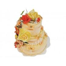 Svatební Textilní dort 3-D třípatrový