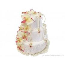 Svatební Textilní dort 3-B třípatrový Veratex