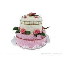 Svatební Textilní dort 2-A dvoupatrový Veratex