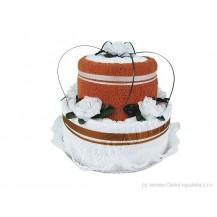 Svatební Textilní dort 2-C dvoupatrový Veratex