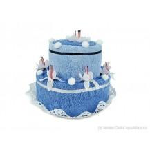Svatební Textilní dort 2-D dvoupatrový Veratex
