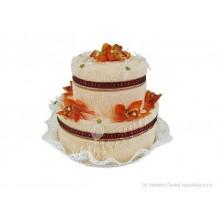 Svatební Textilní dort 2-B dvoupatrový Veratex