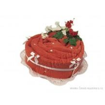 Svatební Textilní dort Srdce jednopatrový