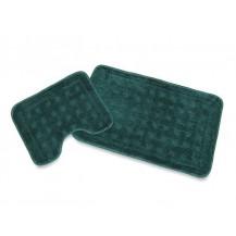 Koupelnová předložka č.211 2-dílný set (zelená kostka) Veratex