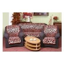 Přehoz na sedací soupravu 3+1+1 (leopard cihlový 9244-202) Veratex