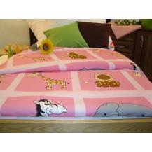 Dětská   VERADEKA tisk  110x130  růžová žirafa