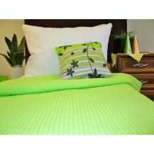 Krepové povlečení zeleno-bílé 70x90 - 140x200 cm Veratex