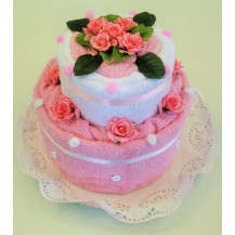 Svatební Textilní dort 2-X dvoupatrový Veratex