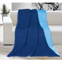 Deka KIRA PLUS 150x200 cm,tmavě modrá/světle modrá