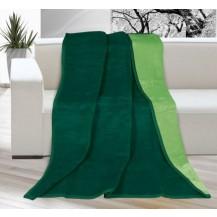 Deka KIRA PLUS 150x200 cm,tmavě zelená/zelená