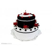 Svatební Textilní dort 2-E dvoupatrový