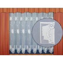 Záclona kusová - Kopretinka  220 x 200cm  (bílá)