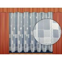 Záclona kusová - Kostky  220 x 200 cm  (bílá)