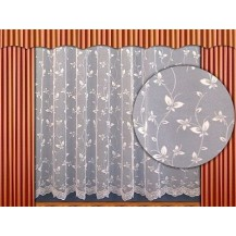 Záclona kusová - Motýlek 220 x 200 cm (bílá)