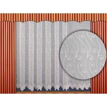 Záclona kusová - Paví oka  220 x 200 cm (bílá)
