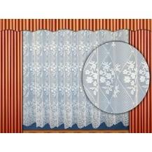 Záclona kusová - Věnce 100x300 cm  (bílá)
