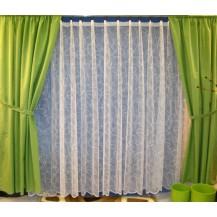 Záclona kusová - Bílé vlnění výška 100x300 cm (bílá)