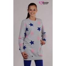 Dámská souprava Hvězda - šedá/khaki XL Vienetta Secret