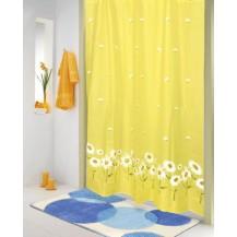 Koupelnový závěs 180x200 cm (kopretina žlutá) Veratex