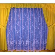 Záclona Vlčí mák výška 120 cm (bílá)
