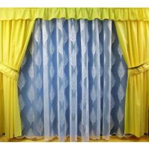 Záclona Kapradí výška 250 cm  (bílá)