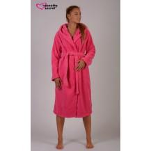 Dámský župan dlouhý s kapucí Hawai - tmavě růžová XL Vienetta Secret