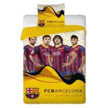 Bavlněné povlečení FC Barcelona Players yellow 70x90 - 140x200 Veratex