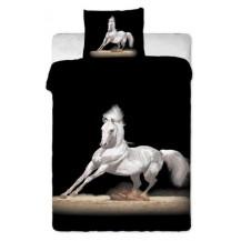 Bavlněné povlečení fototisk Černý kůň 70x90 - 140x200 Veratex