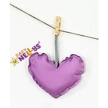 Dekorace BE LOVE SRDÍČKO - fialová Baby Nellys