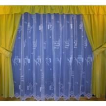 Záclona  Kosočtverce výška 200 cm (bílá)