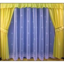 Záclona kusová - Hvěznička 130x300 cm (bílá)