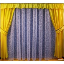 Záclona kusová - Ornament 230x600 cm (bílá)