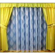 Záclona kusová - Kapradí 230x200 cm (bílá)