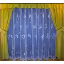 Záclona kusová - Kosočtverce 230x600 cm (bílá)